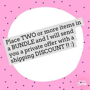 Bundle TWO for offer!